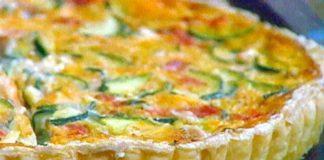 Tarte aux courgettes, lardons et tomates avec Thermomix