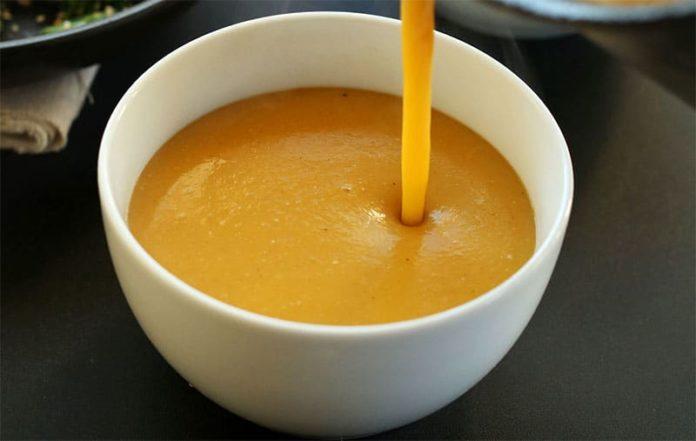 Velouté de potiron et curry