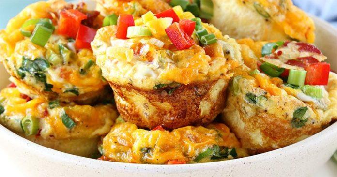 Muffins aux lardons et légumes avec Thermomix