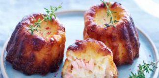 Cannelés au saumon fumé et au parmesan