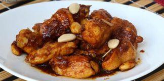 Poulet aux amandes et sauce soja