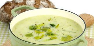 Soupe de poireaux au Boursin