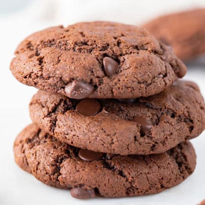 Cookies croquants double chocolat