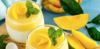 Panna cotta au coulis de mangue