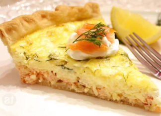 Quiche au saumon et Boursin