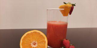 Smoothie fraise menthe orange