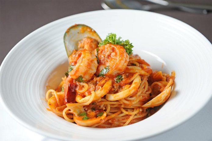 Spaghettis aux fruits de mer