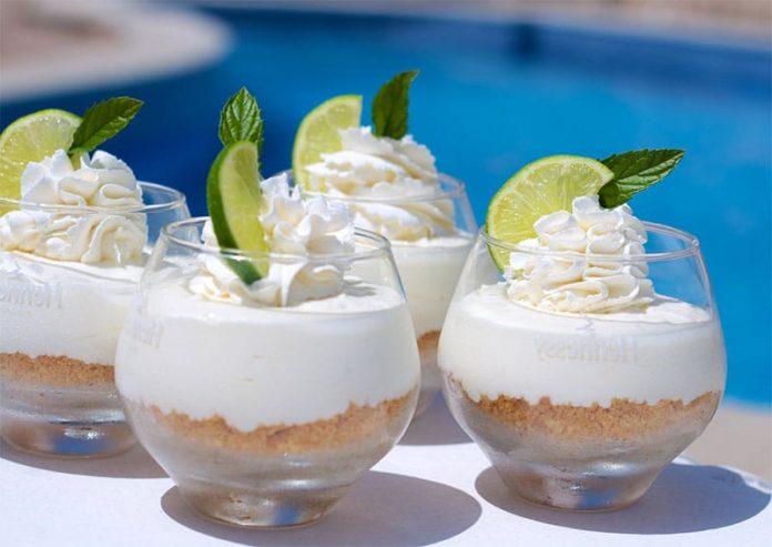 Cheesecake Mojito en Pots