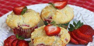 Muffins au Yaourt et aux Fraises