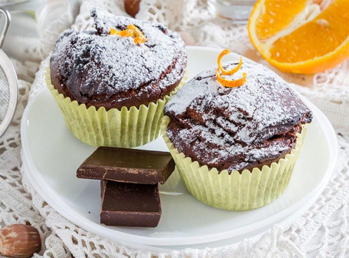 Muffins au chocolat et à l'orange