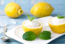 crème glacée au citron