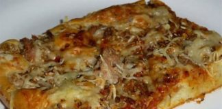 Pizza liquide au thon