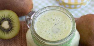 Smoothie au kiwi et lait de soja