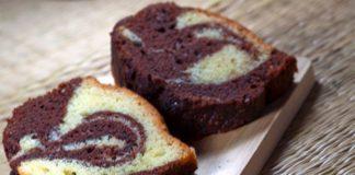 Cake marbré moelleux au chocolat