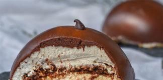Dôme chocolat / croustillant praliné / mousse mascarpone