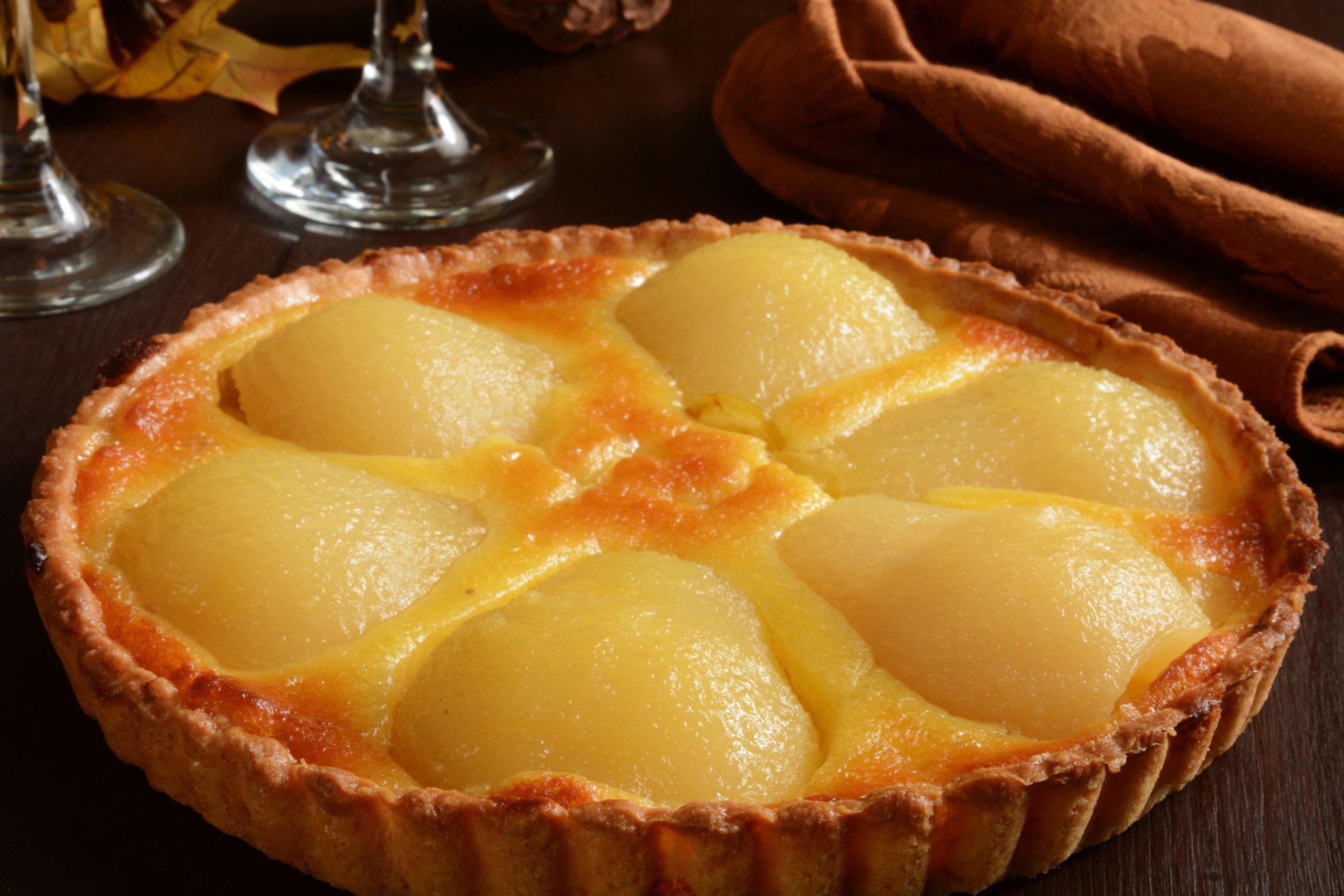 Tarte au flan et aux poires - CuisineThermomix