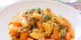 Poulet aux carottes et sauce curry