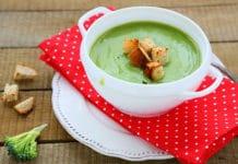 Soupe de brocoli au parmesan