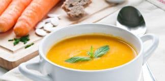 Soupe de carottes à la crème