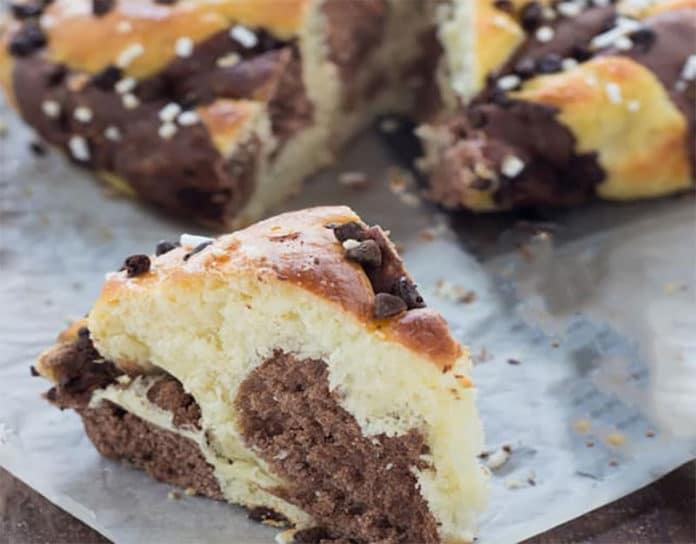 Brioche Marbrée Choco – Vanille