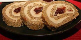 Pain d'épices roulé et foie gras