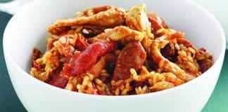 Risotto au poulet et chorizo