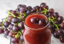 Confiture aux raisins rouges