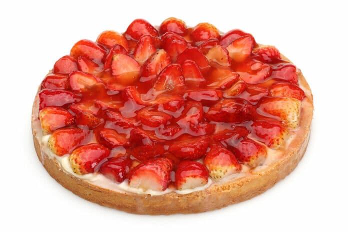 Tarte aux fraises à la pâte génoise